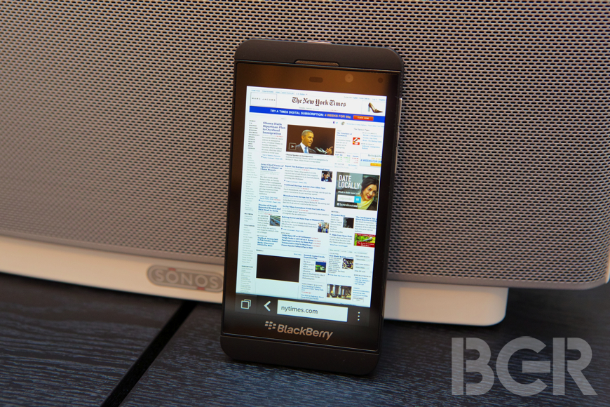 BlackBerry 10 Browser Test