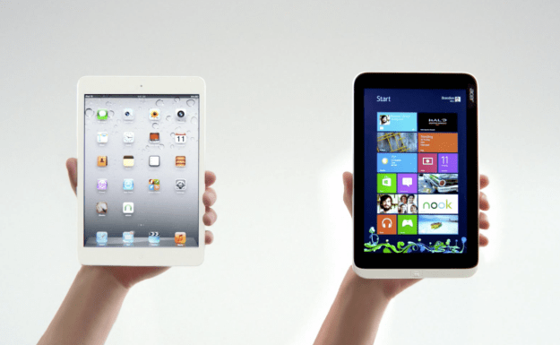 Microsoft iPad Mini Acer Iconia W3 Comparison