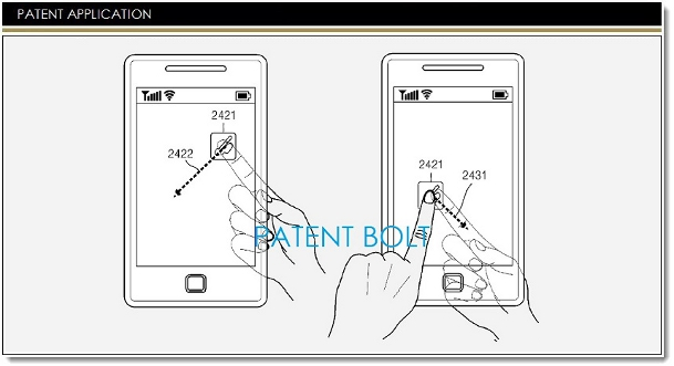 Samsung Back Touch Transparent Touchscreen Patent