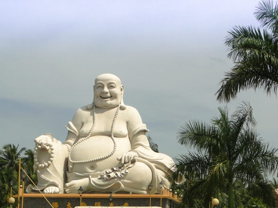 Dark Wallpaper Hd 1920x1080 Laughing Buddha Statue Free Image Peakpx
