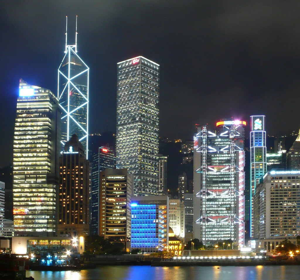 Np Name 3d Wallpaper Hong Kong Skyscrapers At Night The Most Famous