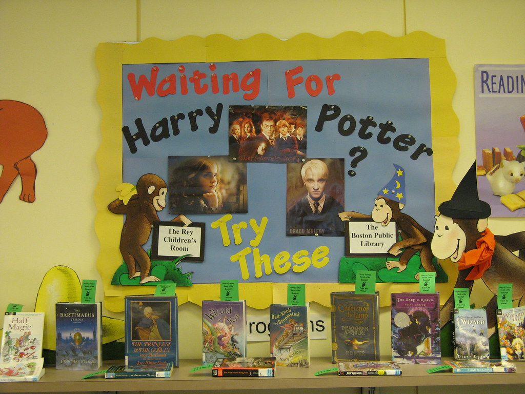 Harry Potter Display Harry Potter Book Display 2 I Put These Read Alikes Up
