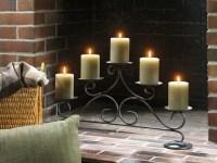 Yankee Candle Fireplace Pillar Holder   Warm the hearth ...