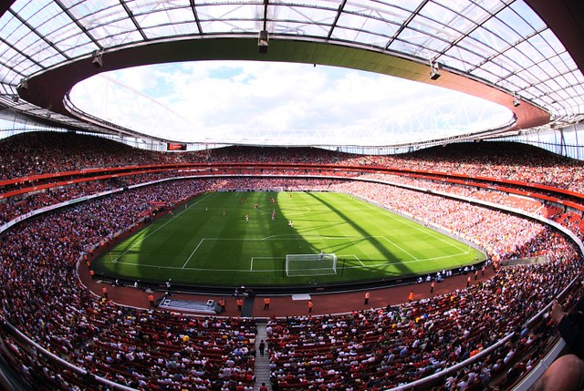 3d Wallpaper Before And After Emirates Stadium Home Of Arsenal Fc The Emirates