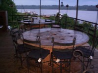 Giant wire spool table | On the Slough Daddys deck. I like ...