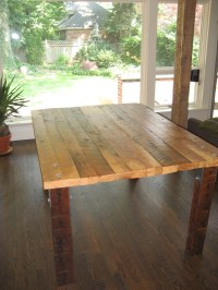 2X4 Table | Kitchen table built from salvaged pine 2x4s ...