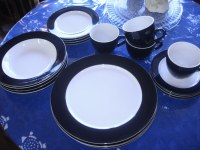 Sears Whole Home dinnerware blueberry 2 | The Living Room ...