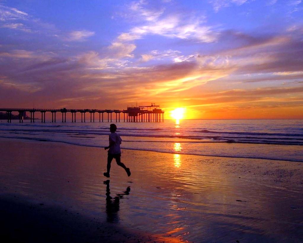How To Make 3d Wallpaper Sunset Beach Runner La Jolla Shores San Diego At