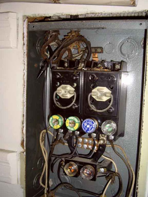old house in a fuse box