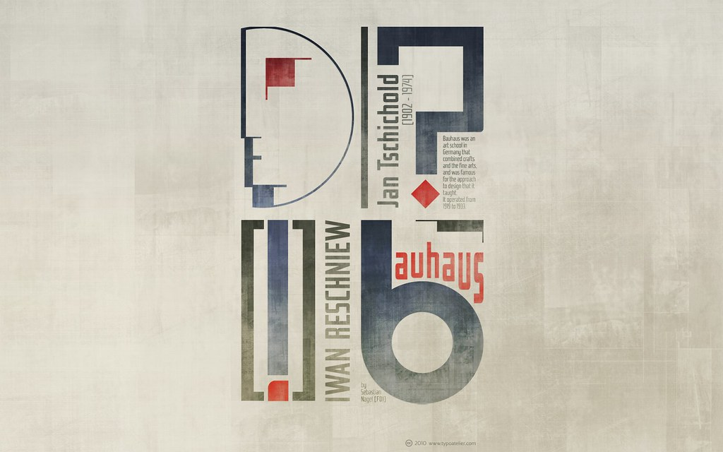 Black And White Geometric Wallpaper Fdi 187 Iwan Reschniew 171 Bauhaus Aged For Widescreen Displays