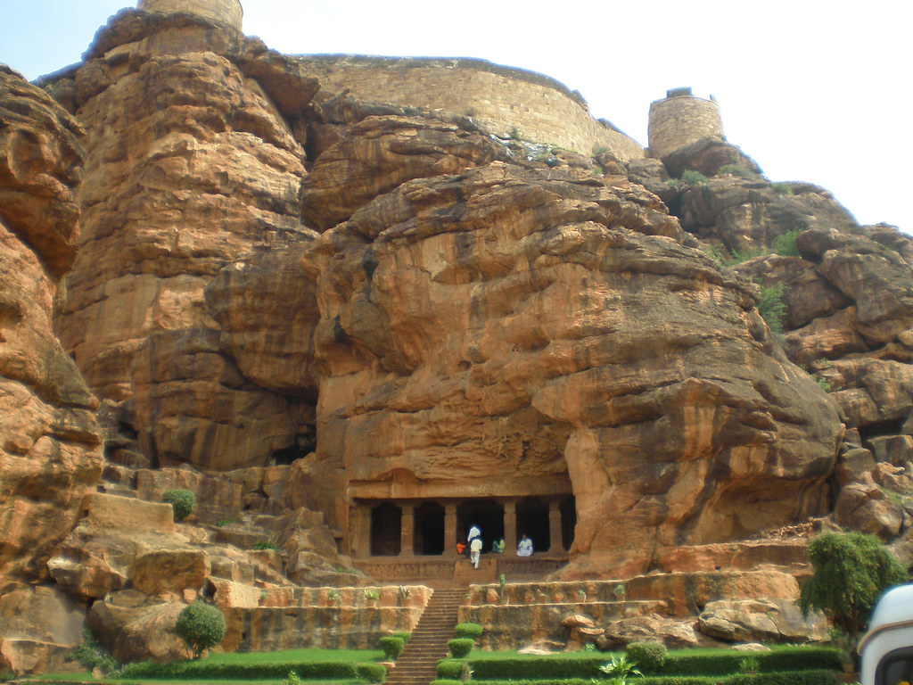 Lord Hanuman Hd Wallpaper Badami Caves Entrance The Badami Cave Temples Are