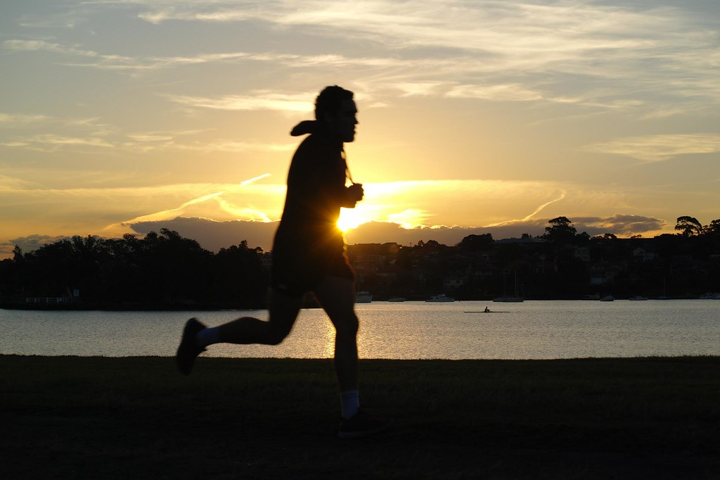 Strong Girl Wallpaper Bay Run Sunset Runner Silhouette Neerav Bhatt Flickr