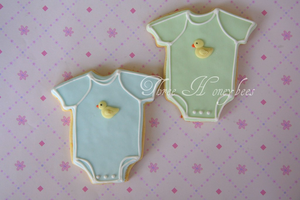 Baby Girl Blog Baby Onesie Cookies These Are Part Of A Set I Made For A