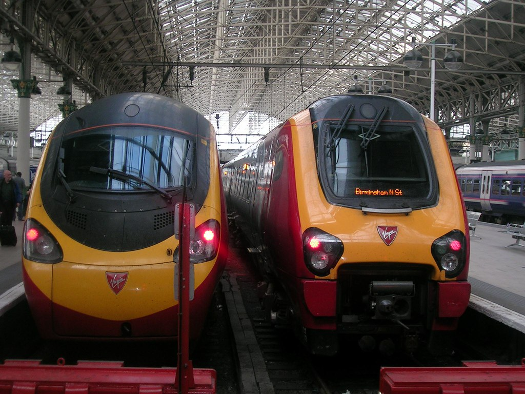 3d World Wallpaper World Two Virgin Trains Pendolino On The Left And The