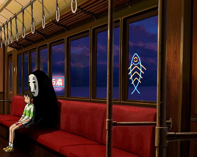 Animated Dual Screen Wallpaper Chihiro Wallpaper Train 1280x1024 Right Screen A