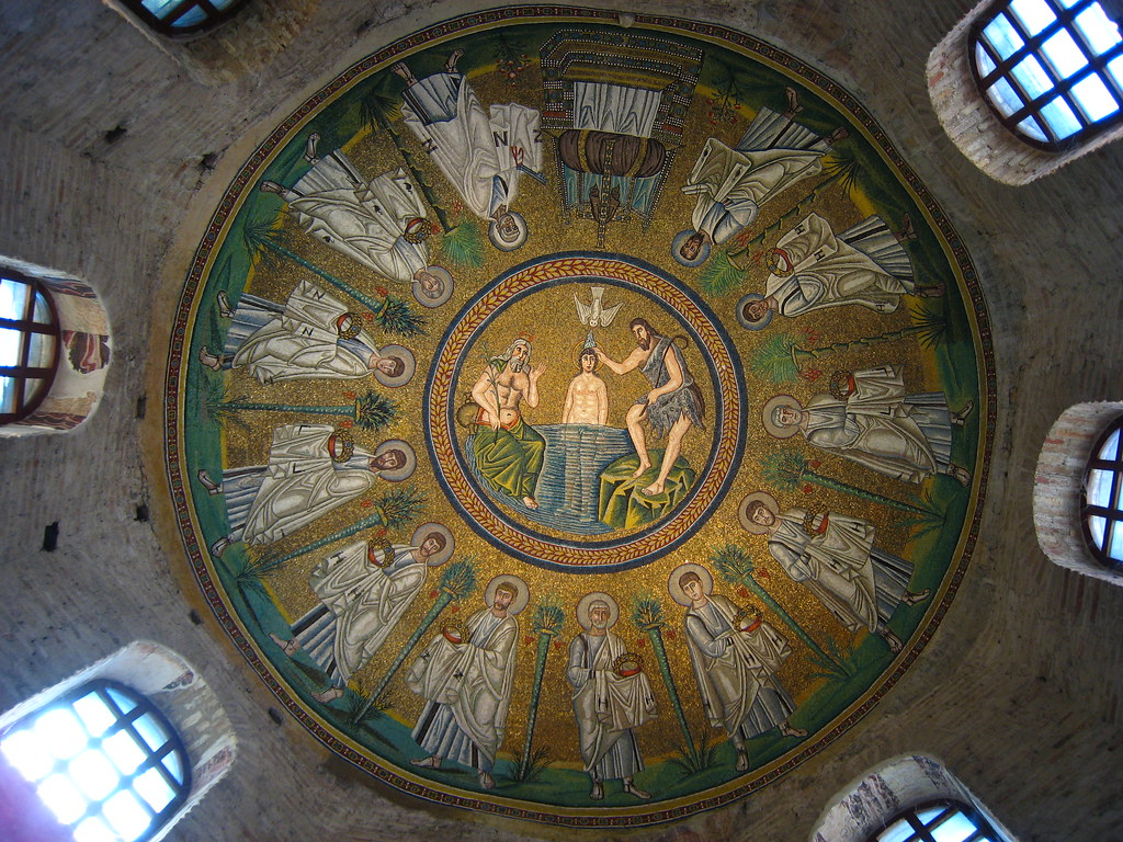 World Map 3d Wallpaper Ceiling Mosaic Arian Baptistry Ravenna Battistero