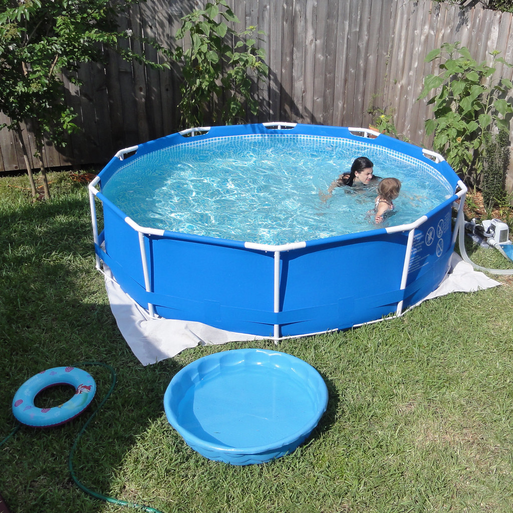 Piscina Intex 2400 Litros Pool Here It Is Our New Pool It 39s A 10 39 Diameter