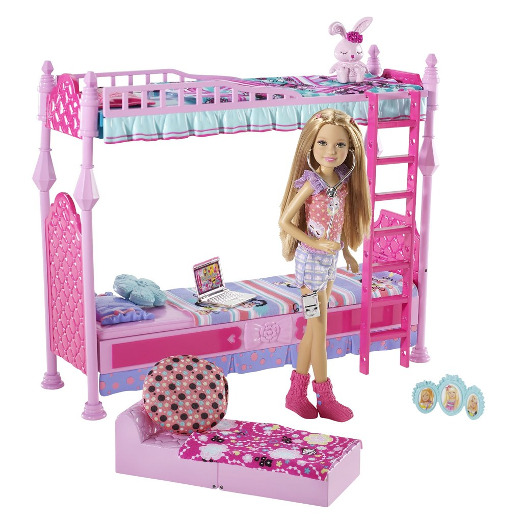 Kids Bed Accessories Barbie Sisters Sleeptime Bedroom And Stacie Doll Set Flickr
