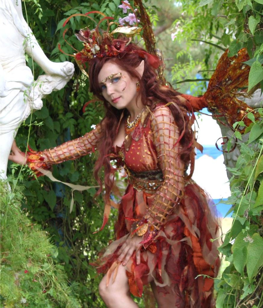 Fall Woodland Creatures Wallpaper Fire Fairy In Garden Desiree D Flickr