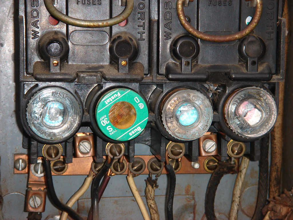 old style fuse and fuse box