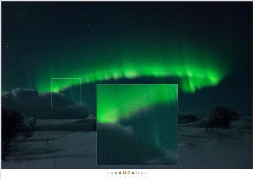Dezelfde foto 1,5 stop lichter gemaakt in Lightroom, en ruisonderdrukking op 30 gezet. Hoewel er ruis te zien is, blijft dit een indrukwekkend resultaat.