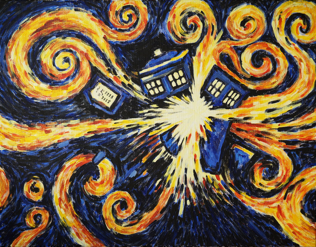 Vincent Van Gogh Quotes Wallpaper Exploding Tardis Inspired By Doctor Who Amp Vincent Van