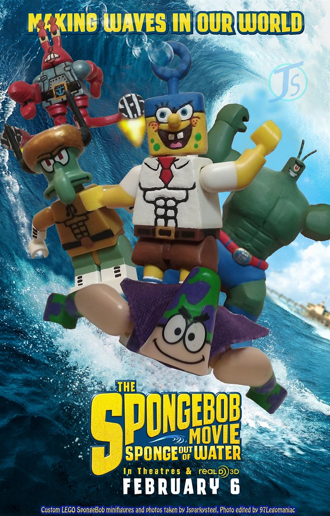The Spongebob Movie Sponge Out Of Water Movie Poster Recre