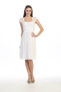 Short Elegant Knee Length Short Sleeves Semi Formal Dress ...