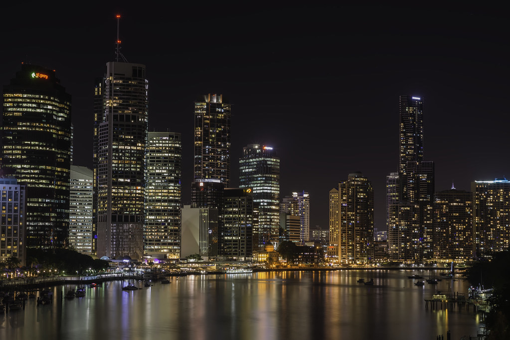 Free 3d Scenic Wallpaper Brisbane City By Night To All My Friends Around The