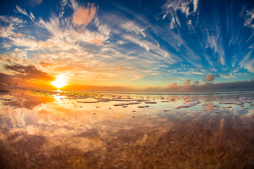 White Wave 3d Wallpaper Sunset At Pipeline North Shore Oahu Hawaii Anthony