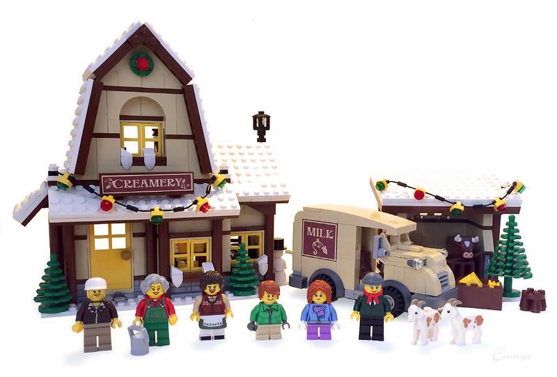 Winter Village Creamery Lego Town Eurobricks Forums