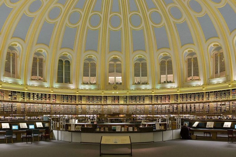 The British Museum Reading Room, London, England. Image credit Diliff.