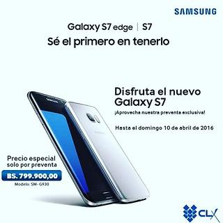 El arte de la oferta de Tiendas CLX y Samsung en Venezuela.