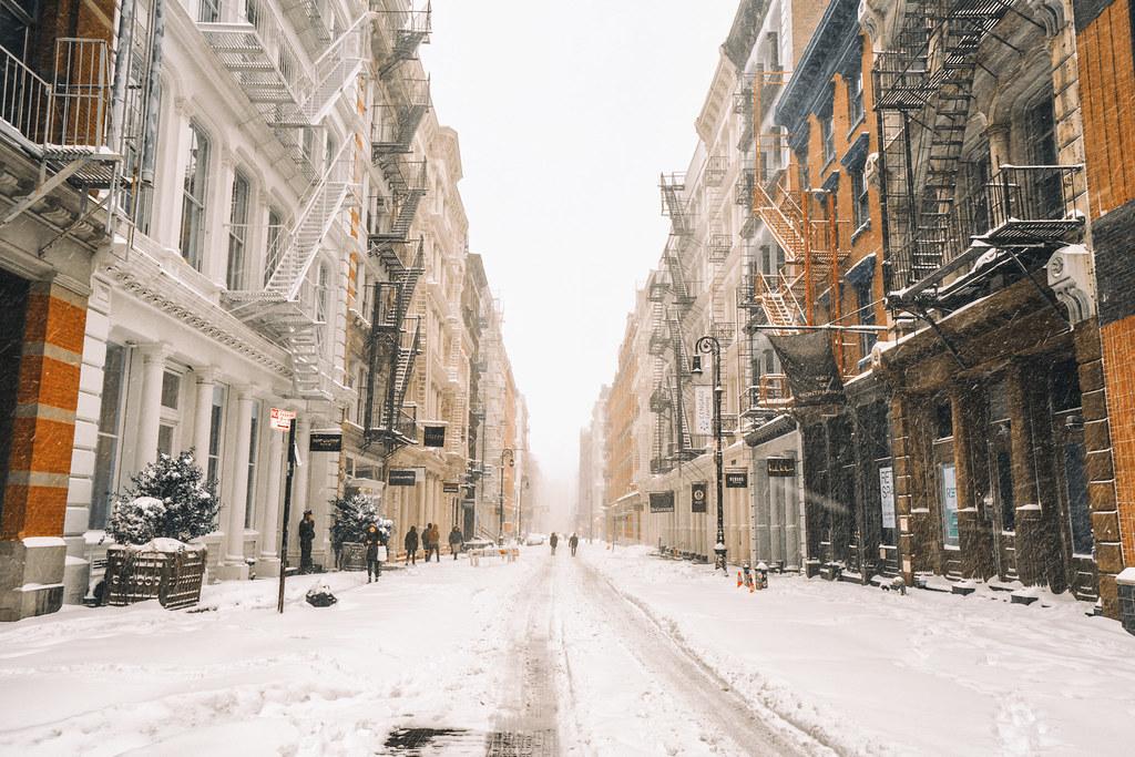 3d Wallpaper New York City New York City Blizzard 2016 Jonas Soho Fire Escapes