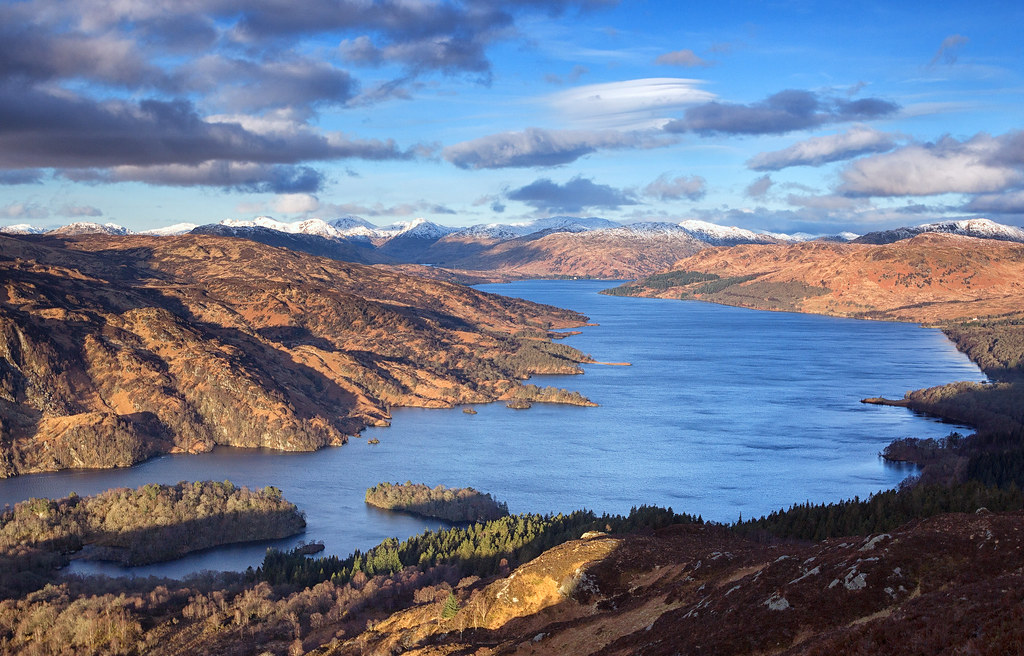 3d Wallpaper Clouds Loch Katrine Scotland Loch Katrine In The Trossachs