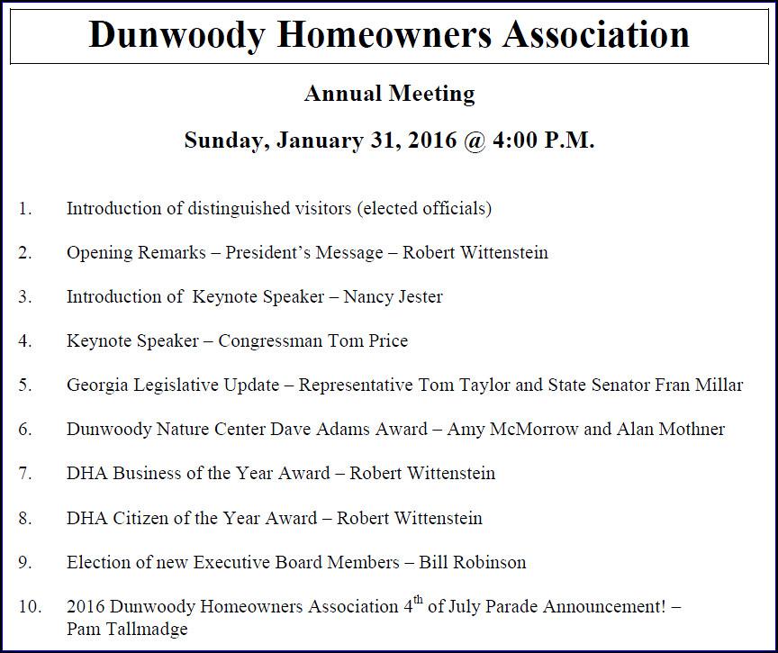 Heneghan\u0027s Dunwoody Blog Annual Dunwoody Homeowners Association