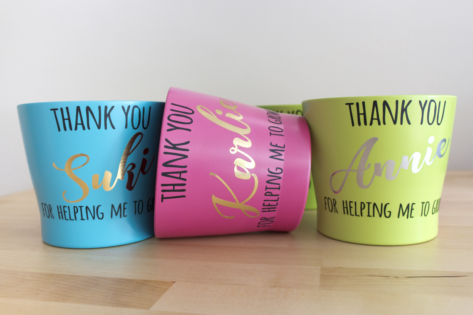 Arteza Heat Transfer Vinyl Teacher Gifts Personalised Flower Pots Made With Vinyl Transfers