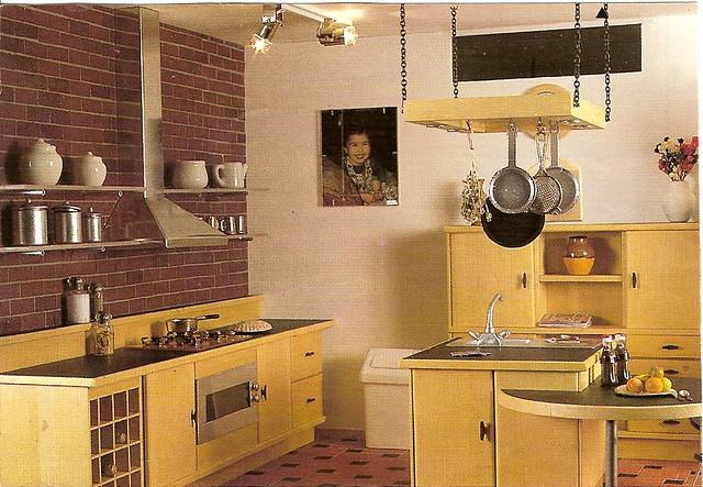 3d Plain Wallpaper Modern Lightwood Dollhouse Kitchen American Loft Style