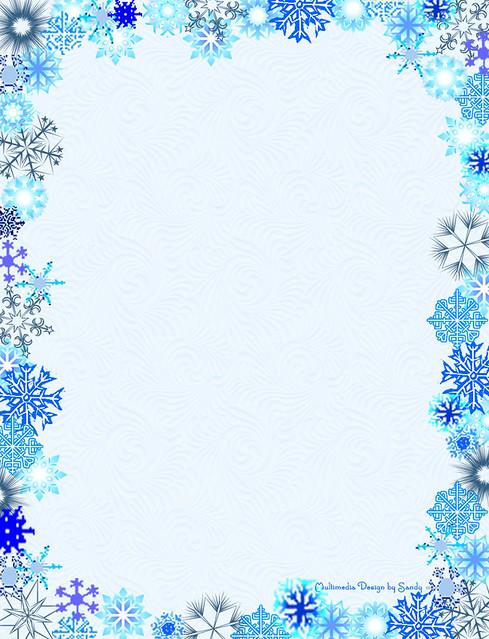 snowflake borders for word