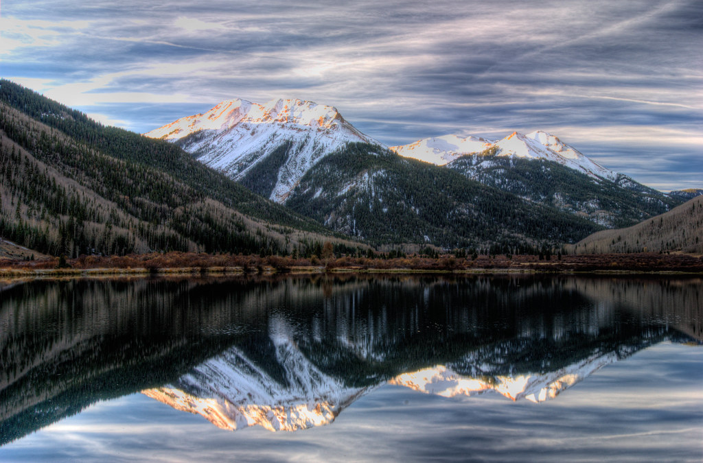 Road Scenery Hd Wallpapers Red Mountain Reflection Colorado Hdr Another Shot Of