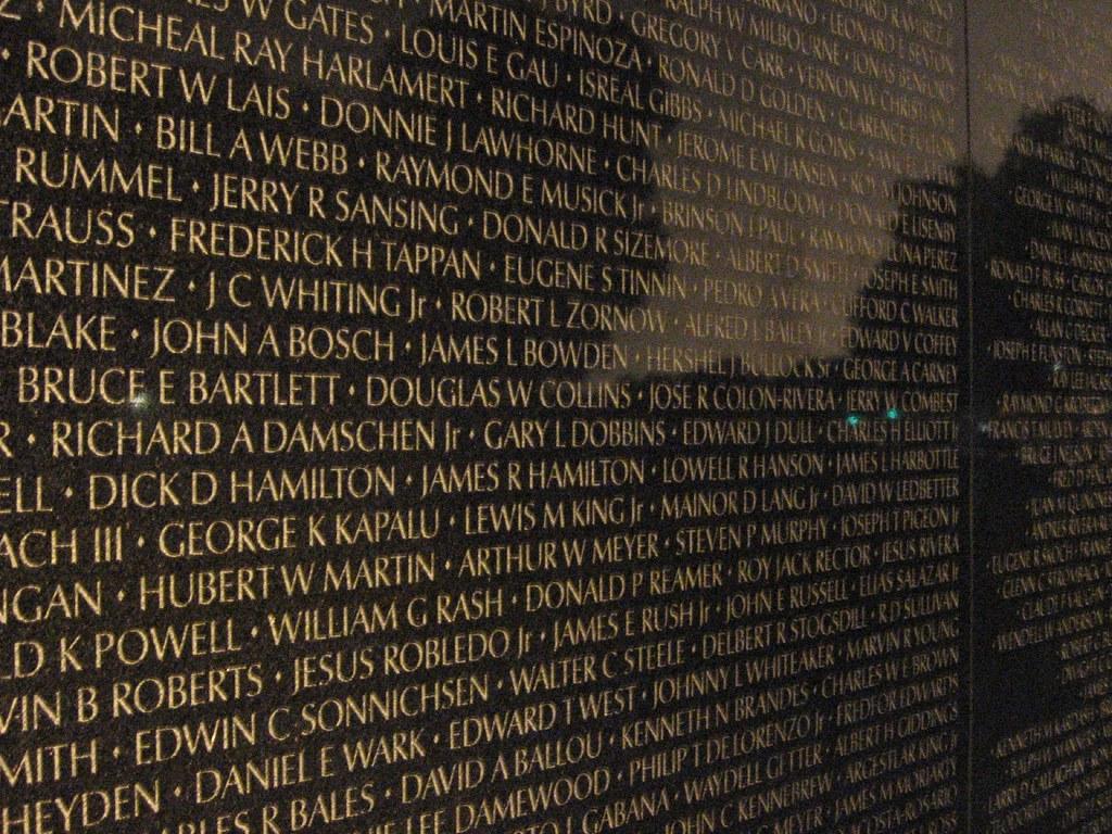 3d Curved Wallpaper The Wall At Night Vietnam Veterans Memorial Washington D