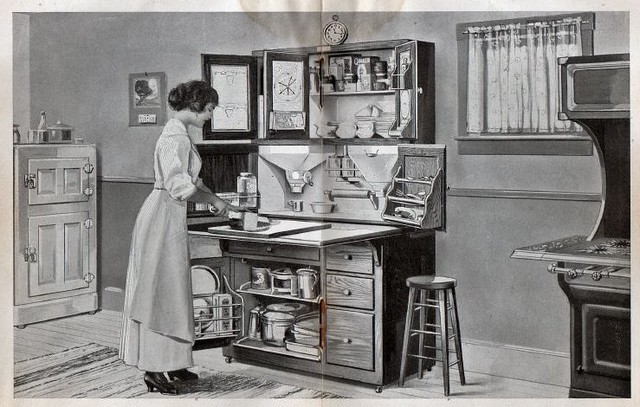 "Hoosier Cabinet Hoosier Cabinets Save Nerves | From ""you And Your Kitchen"
