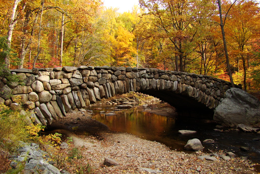 Central Park Fall Wallpaper Beautiful Shot Of The Old Stone Bridge On Beach Drive In R