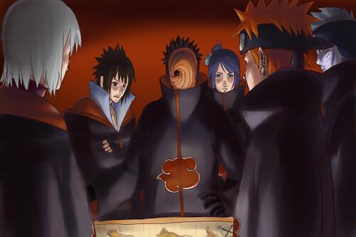 Akatsuki 3d Wallpaper Akatsuki Sasuke Tobi Madara Pain Plan Destructo Konoha