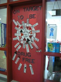 Door Decorations for Red Ribbon Week | On Target to be ...
