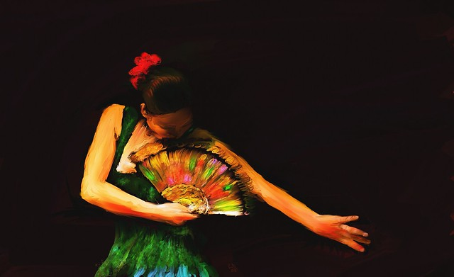 Black Green Wallpaper The Flamenco Dancer S Fan Flickr Photo Sharing