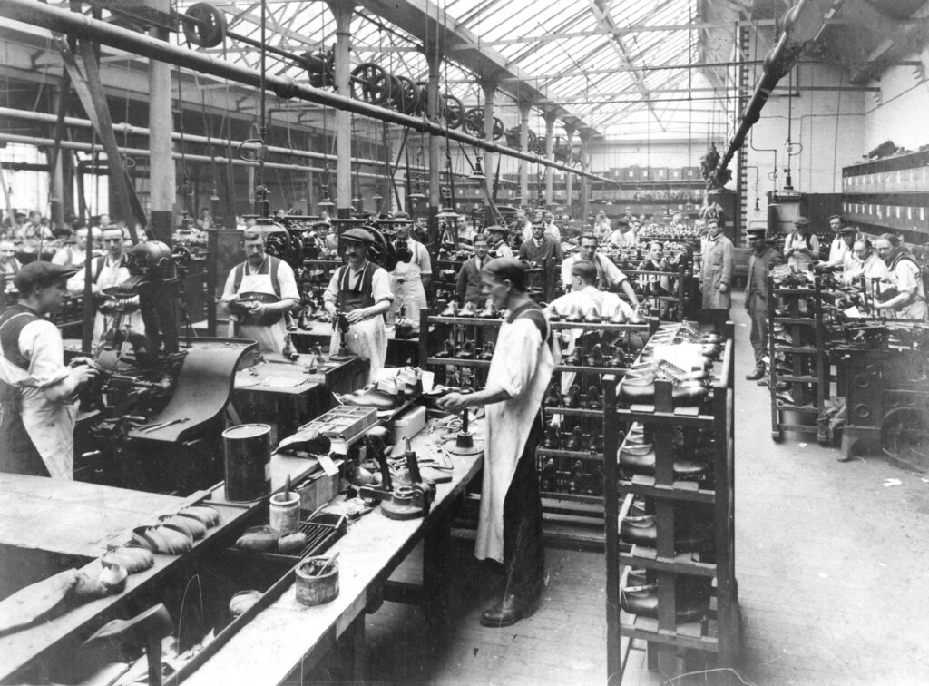 Photograph C E Lewis Factory Northampton Late 19th Ce