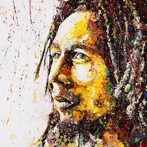 Wallpaper Rasta 3d Bob Marley Art Alita Ras Flickr