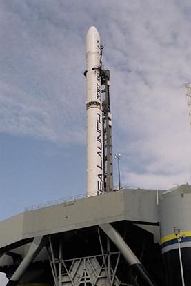 Lanzamiento de uno de los satélites de DIRECTV.