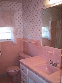 DIY-1960's Pink Tile Bath- Before Shot   Our upstairs ...